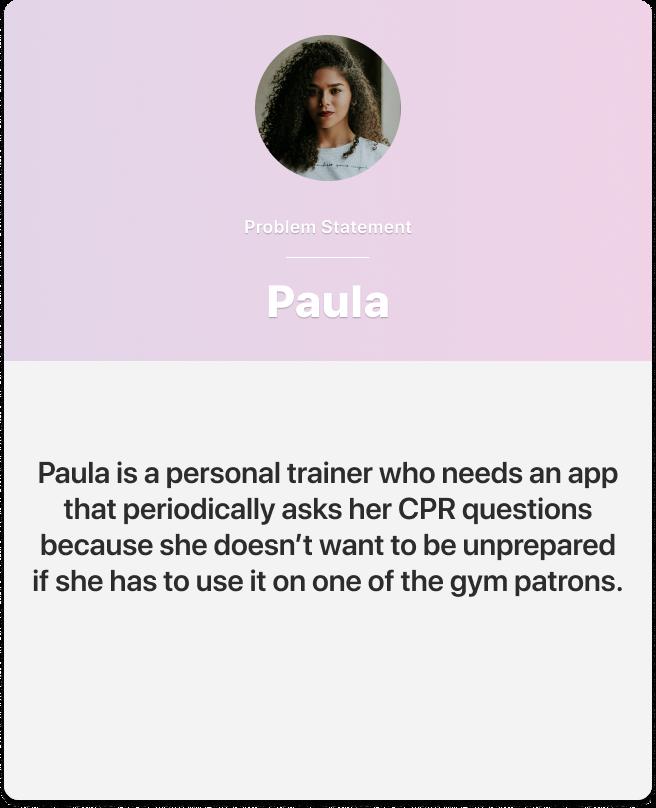 Paula's problem statement