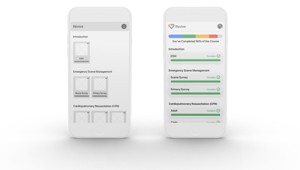 wireframes to mockups - dedicated app